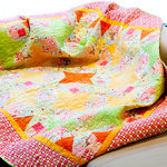 "UNIKAT - Quilt ""Playful Meadow"""